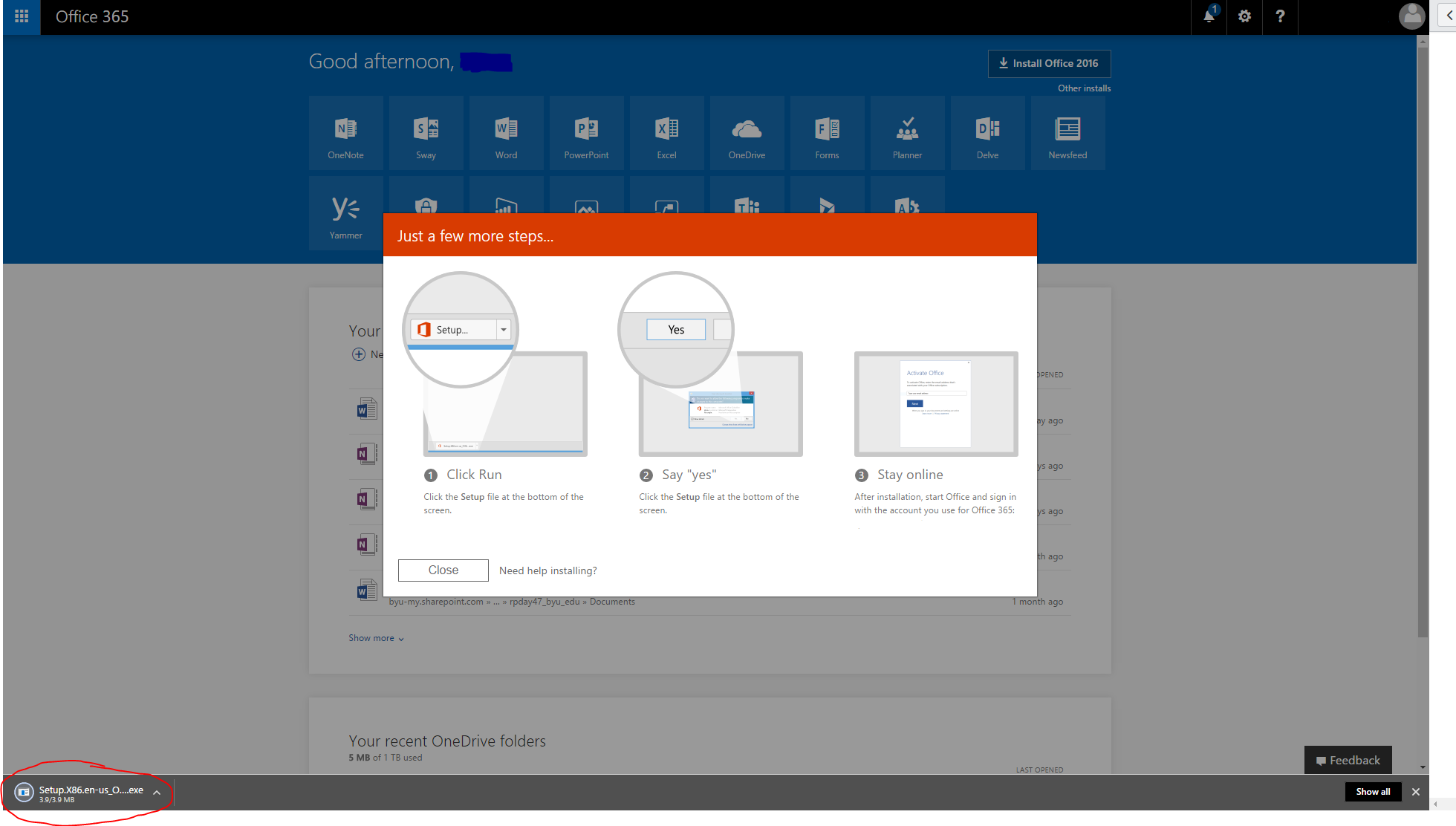 Knowledge - Install Office 365