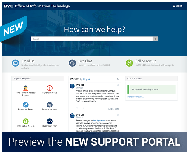Preview Support Portal