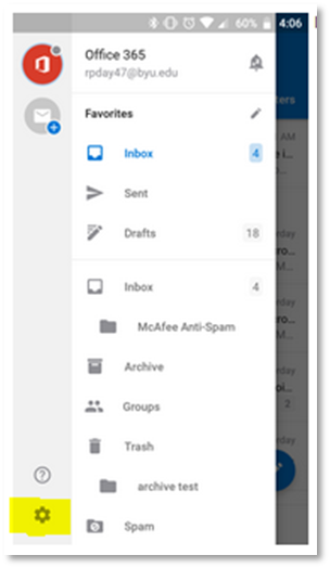 Knowledge - Email - Configure An Outlook Account on iOS and Android