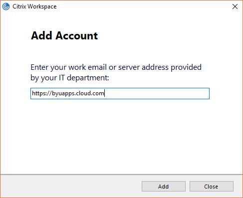 Knowledge - CloudApps - Adding the New Citrix Store Account