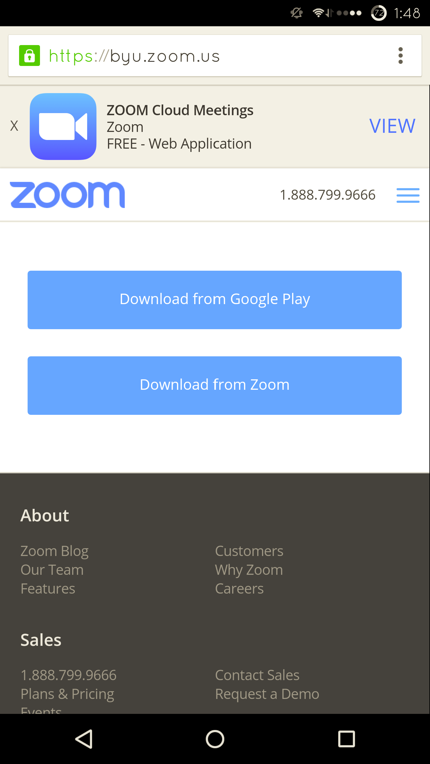 Knowledge - Zoom for Android: Getting Started