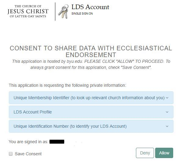 Knowledge - Ecclesiastical Endorsement Instructions for