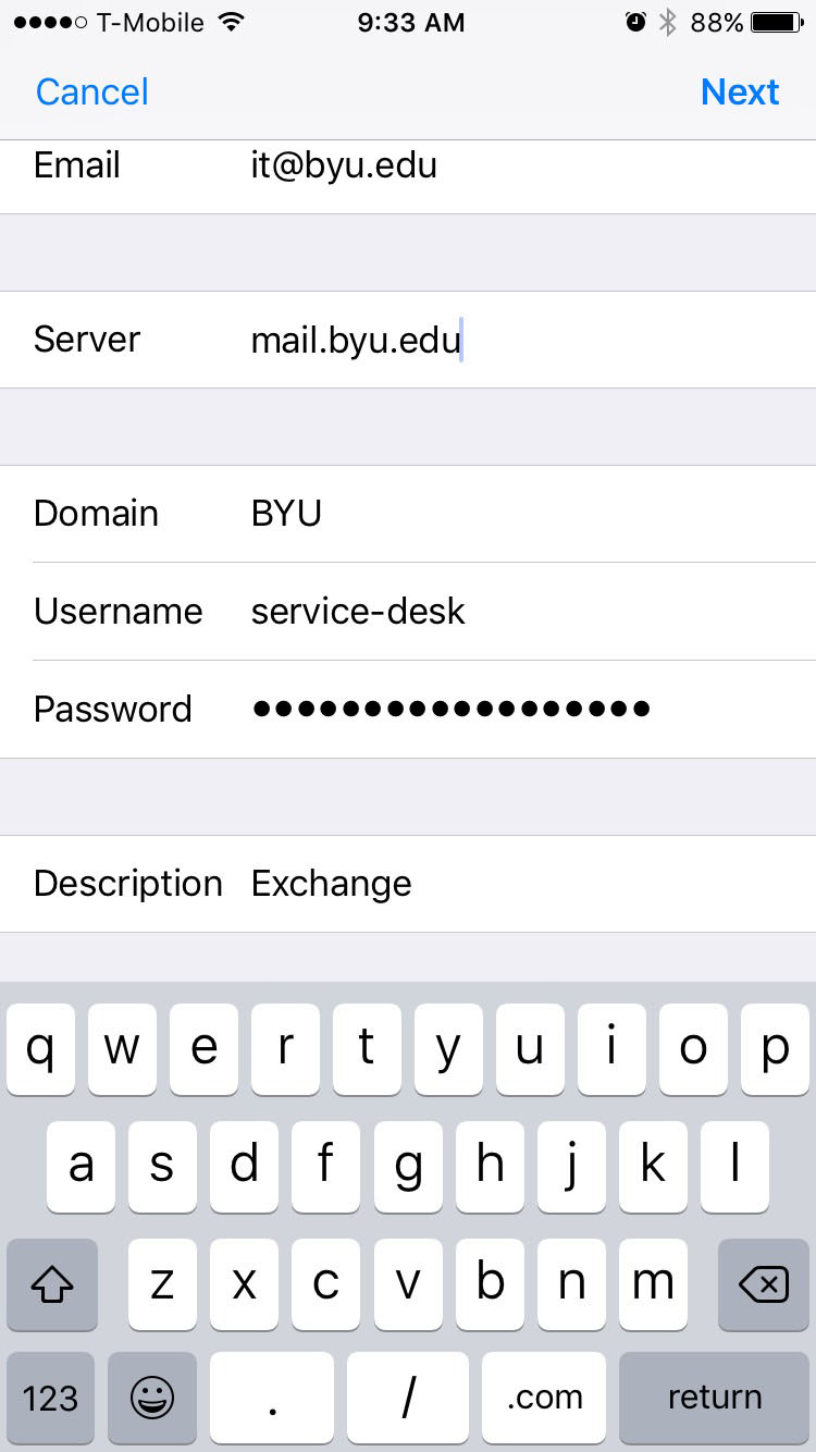 Username Your Net Id Eg Fwannabe Or Service Desk For A Generic Account Pword The Ociated With Byu